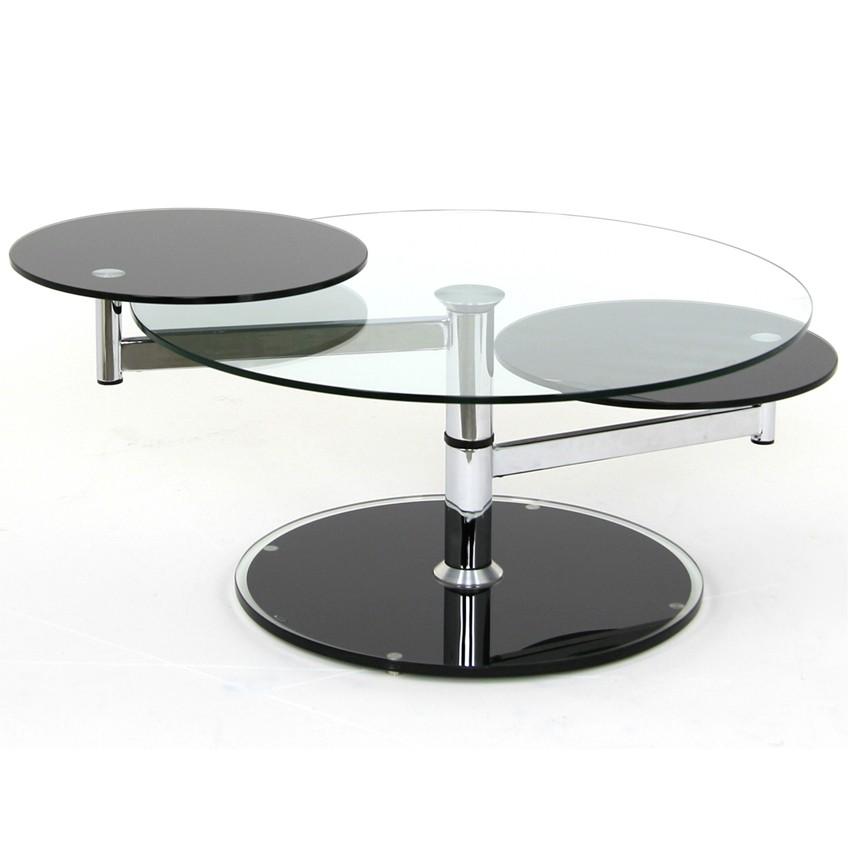Swivel Glass Coffee Table Orbit Mobler Modern Furniture Edmonton