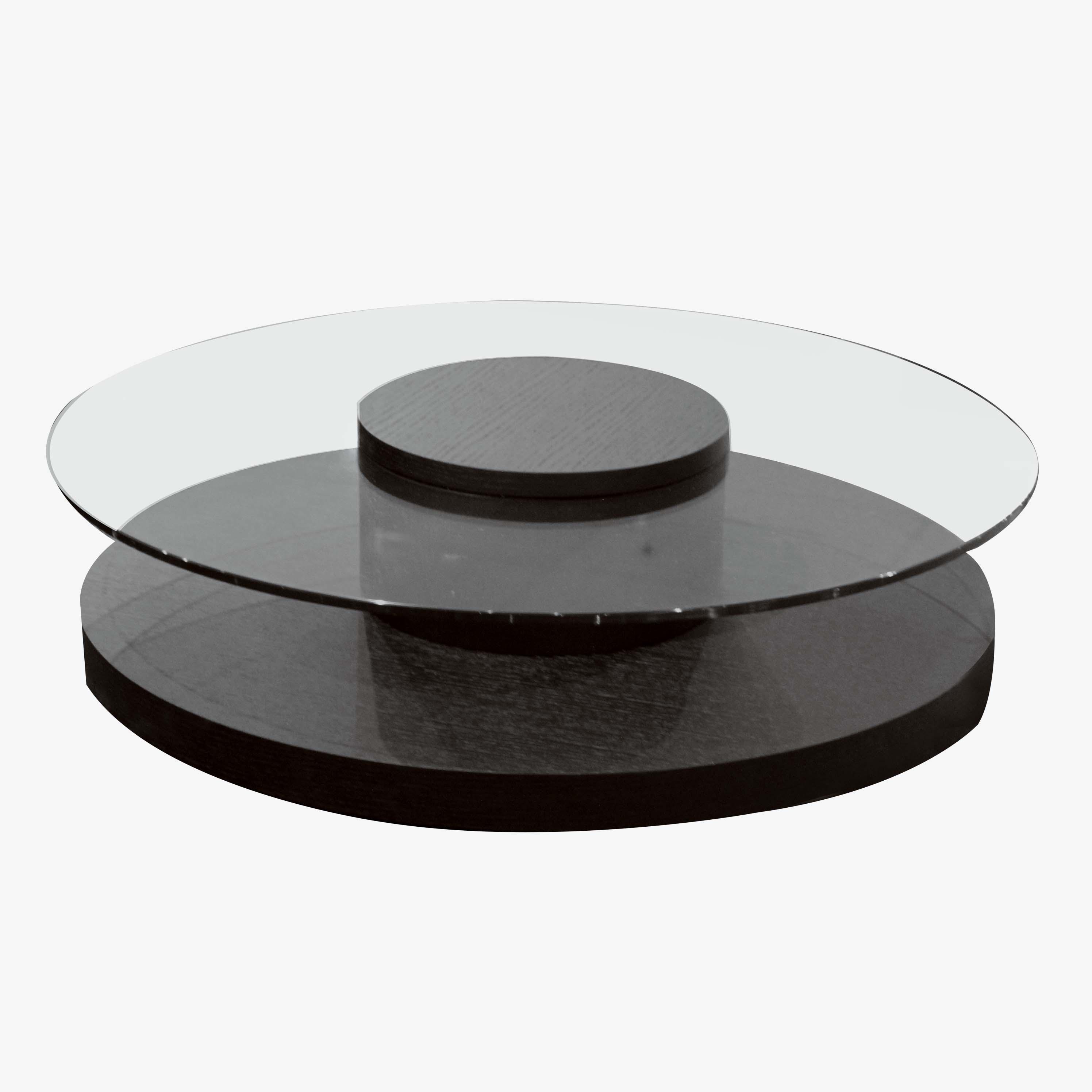 Round Glass Coffee Table Halo Mobler Modern Furniture Edmonton