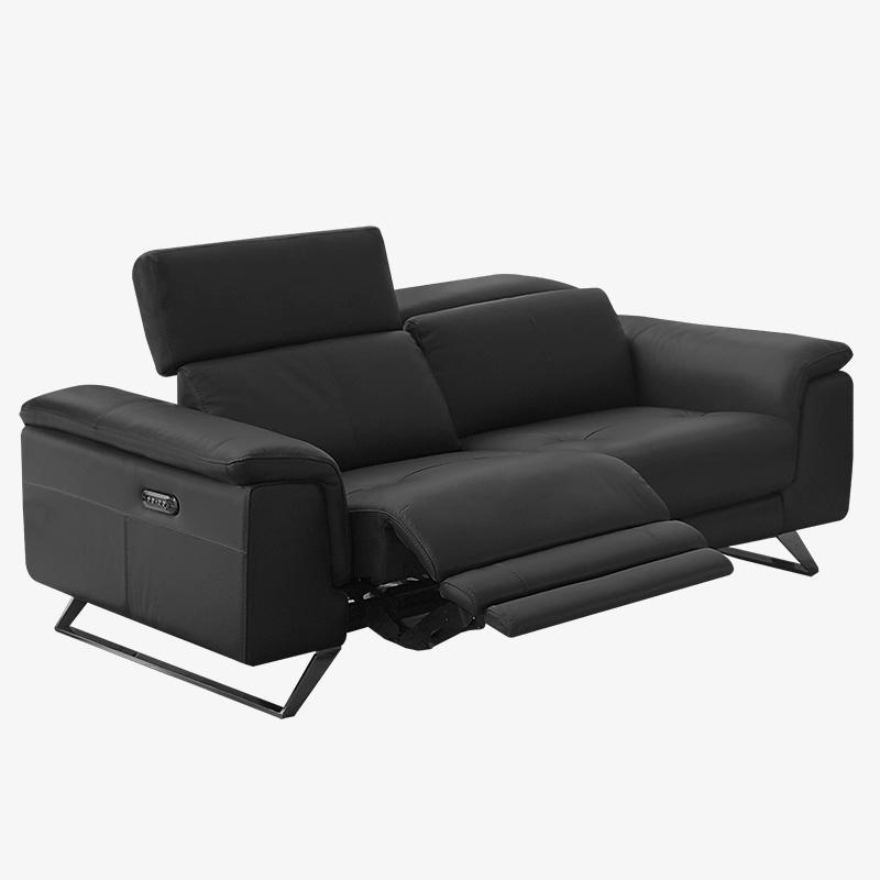 Black Power Reclining Sofa Lazio, Modern Reclining Sofas