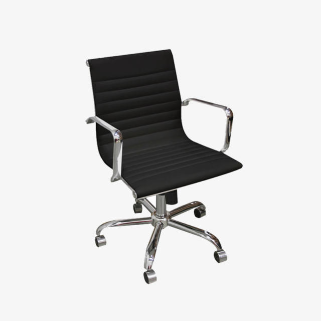 Amelia Mid Back Black Chair Edmonton Mobler Furniture