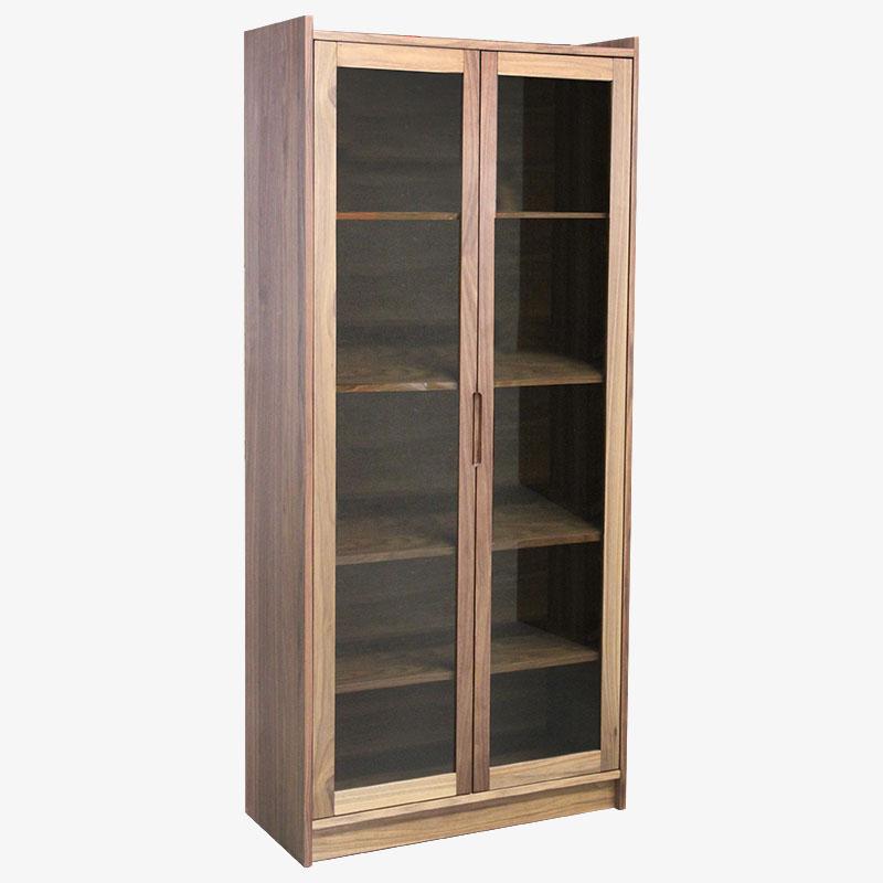 Walnut Glass Door Cabinet Walter Mobler Modern